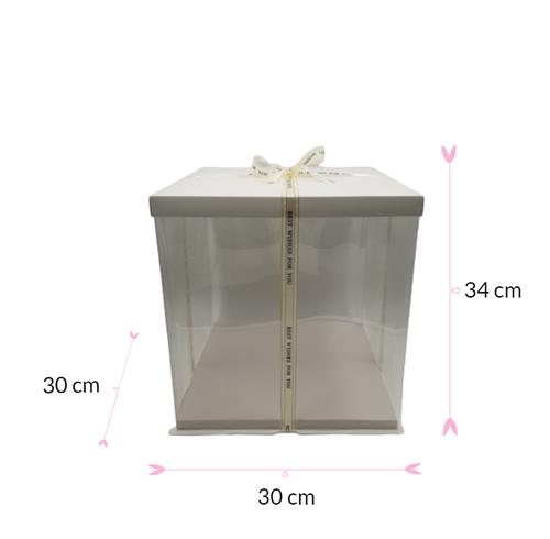 Cajas blancas para tartas de 15,24 cm x 15,24 cm x 7,62 cm de alta calidad